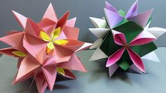 Origami Spring Water Lily Kusudama