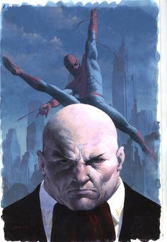Kingpin & Spider-Man by Esad Ribic