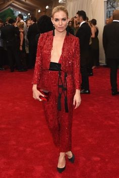 Sienna Miller. See all the looks from the 2015 Met gala.