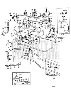 Volvo Penta Exploded View Schematic Cooling System With