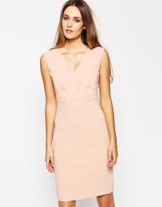 Reiss Esther Pencil Dress with V Neck
