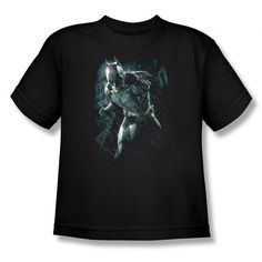 Dark Knight Rises Batman Rain Youth T-Shirt $14.99
