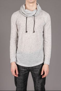 Arsnl lantern cowl collar lightweight sweater from Jack Threads