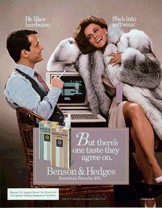 "Benson & Hedges, ""He likes hardware...She's into softwear"", 1985"