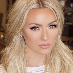 Blonde Eyebrows Tutorial: How To Get Fuller, Natural Looking . Blonde Eyebrows Tutorial: How Bridal Makeup Natural Blonde, Bridal Makeup For Blondes, Wedding Hair And Makeup, Natural Makeup, Blonde Makeup, Wedding Guest Makeup, Prom Makeup, Blonde Haare Make-up, Makeup Looks