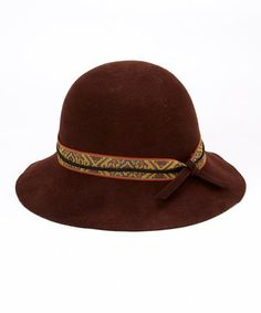 Another great find on #zulily! Brown Tribal Wool Cloche by Jeanne Simmons Accessories #zulilyfinds