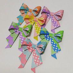 Lovely Ribbon ,Lace pattern. #折り紙 #おりがみ #リボン #origami #papercraft #ribbon