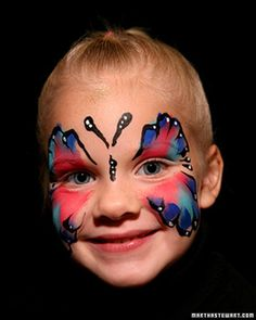 Last-Minute Halloween Costume: Butterfly Face Paint