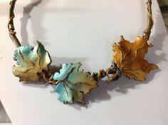 MADE TO ORDER - Necklace, leaves, polymer clay, unique, handmade, original design