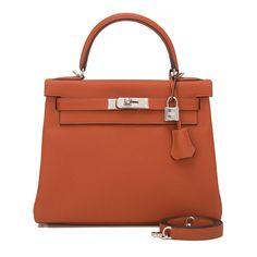 #Hermes #Kelly #Bag Cuivre Togo Retourne Palladium Hardware