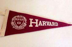 Vintage Harvard Pennant on Etsy, $22.00