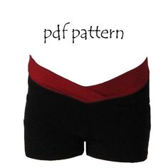 Make your own dance shorts with this pdf pattern - girls sizes 2-14 $5 on Etsy