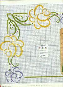 ♥Meus Gráficos De Ponto Cruz♥: Flores Vazadas para Toalhas de Mesa (Ponto Cruz)