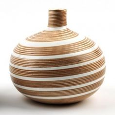 Wood and recycled yogurt containers by Sarah Thirlwell