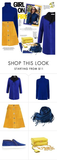 """""""Out on the colour clash"""" by naki14 ❤ liked on Polyvore featuring Diane Von Furstenberg, MiH, Weekend Max Mara and Mark Cross"""