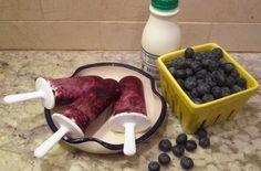 Blueberries and Cream Ice Pops