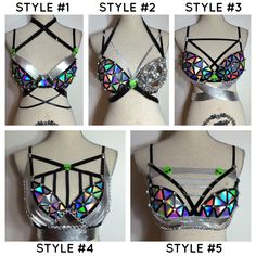 Alien rave bra costume space cadet robot edm dancewear holographic futuristic by bassbunnydesigns on Etsy https://www.etsy.com/listing/214998091/alien-rave-bra-costume-space-cadet-robot