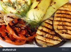 Grilled Vegetables Prepared To Eat On Kitchen Стоковые фотографии 81591028 : Shutterstock