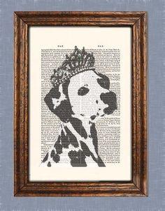 Dalmatiner mit tiara
