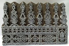 Indian wooden hand carved textile printing by heritagecollectible