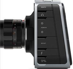 Blackmagic Design URSA Mini Pro, the digital film camera with professional broadcast camera features and controls. Black Magic Cinema, Reflex Camera, Cinema Camera, Audio In, Bare Necessities, Technology Gadgets, Consumer Products, User Interface, Product Design