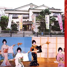 Atami Geigi Kenban is Atami's Geisha Exchange Theatre. Yumemachi-odori Hananomai (flower dance) is a brilliant dance performance by local geisha held at the Atami Geigi Kenban every Saturday and Sunday. It is a rare chance to see a professional dance by geisha.