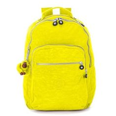 Kipling Seoul Backpack, Neon Yellow, One Size BP3020-717,