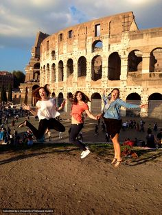 These UD ladies are having fun at the Colosseum in Rome, Italy.