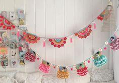 Crochet Chart, Crochet Patterns, Media Luna, Flamenco Dancers, Bunting, Best Gifts, Digital, Happy, Handmade