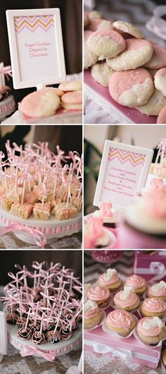 Sparkle and Tutus Baby Shower in Pink and Gold: Sparkle and Tutus themed baby shower