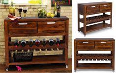 Jak połączyć przyjemne z pożytecznym? Zamiast przebierać wśród zwykłych szafek.. wybierz tą na wino! 🍸 Duża funkcjonalność - dodatkowa powierzchnia na blacie, pojemne szuflady, miejsce na ulubione wina oraz półka na dodatki! Kolekcja WHITE MOUNT - meble z palisandru