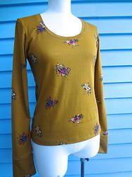 Long Sleeve Wool Top - Mustard