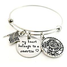 My Heart Belongs to a Coastie {Expandable Bangle}