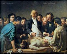 FRANÇOIS FEYEN-PERRIN (1826-1888). La leçon d'anatomie du Docteur Velpeau. Lección de anatomía del Dr. Velpeau (pinterest.com/pin/288863763572646747). Enlarge: pinterest.com/pin/287386019941531955