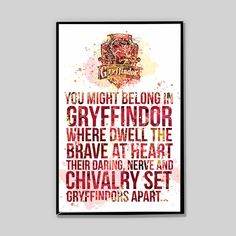 CLEARANCE Gryffindor watercolor poster, Harry potter, Severus Snape Patronus Print Harry Potter, gift for him, nerd gifts, Movie Poster_32 by InstantGoodVibes on Etsy