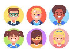 Kids Avatars by July Pluto
