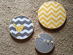 Little Birdie Chevron Embroidery Hoop on Etsy, $35.00