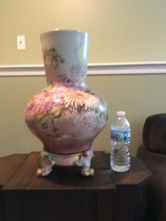 Antique Limoges Vase and Stand by VintageFamilyGoods on Etsy https://www.etsy.com/listing/385438546/antique-limoges-vase-and-stand