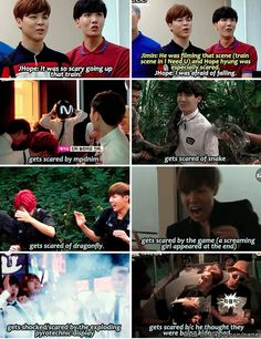 J-hope and his fear of everything LoL  #bts #bangtan #jhope #hobie