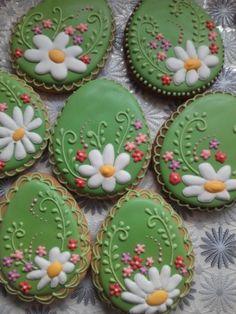 Crazy Cookies, Fancy Cookies, Iced Cookies, Easter Cookies, Easter Treats, Holiday Cookies, Cupcake Cookies, Easter Dirt Cake Recipe, Biscuit Decoration