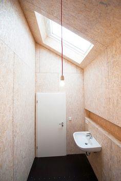 OSB wall finish to toplit WC (?)