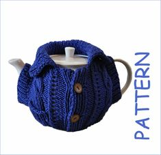 Tea cosy pattern Knitted teapot warmer Gift for granny Easy Knitting Patterns, Easy Patterns, Tea Cozy, Tea Cosy Pattern, So Little Time, Teapot, Tea Warmer, Long Distance Gifts, Etsy