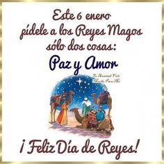 Frases Bonitas Para Facebook: Tarjeta Para El Dia De Reyes 6 De Enero