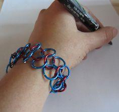 wikiHow to Make a Chain Mail Bracelet -- via wikiHow.com