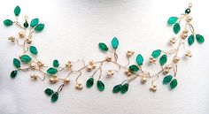 Emerald Green Bridal Hair Vine, Hair Piece, Wedding Accessories, Bridal Hair Accessories