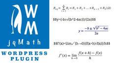 Como usar o jqMath no Wordpress - Out4Mind