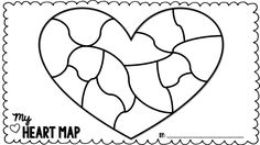 At the beginning of the year, I love to have my kids complete a Heart Map in their writing journal. A Heart Map is a map of their heart,. Heart Map Writing, Work On Writing, Writing Process, Map Activities, Back To School Activities, Holiday Activities, Kindergarten Activities, Writing Traits, Narrative Writing
