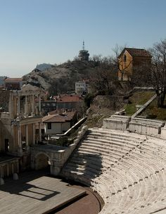The Roman Theatre in Plovdiv, Bulgaria (by Peter2222)
