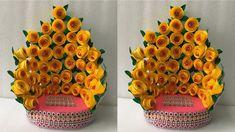 Flower Diy, Diy Flowers, Flower Decorations, Diy Paper, Paper Crafts, Ganpati Decoration Design, Ganesh Chaturthi Decoration, Decor Crafts, Diy Crafts