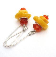 Honey Amber Dangle Earrings Yellow Amber by BacaCaraJewelry